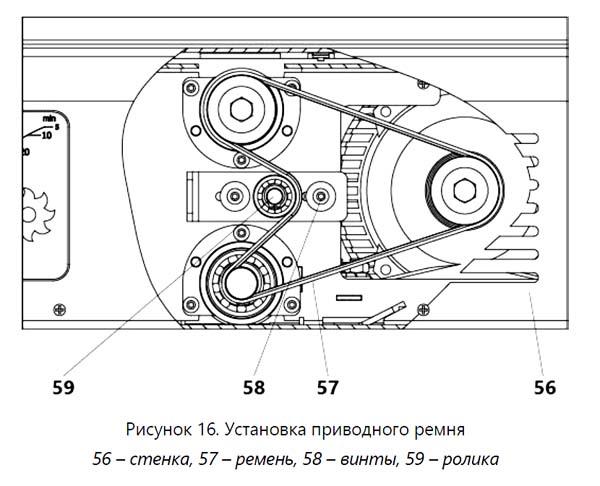 Установка приводного ремня станка СДМП-2200