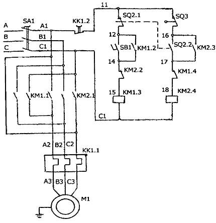 Схема электрическая станка для