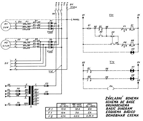 SN-32 Схема электрическая токарно-винторезного станка