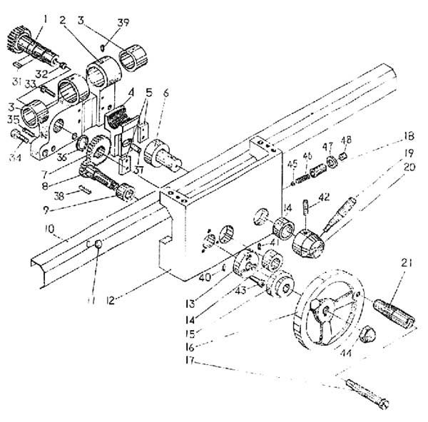 SPA-500 Чертеж фартука токарного станка
