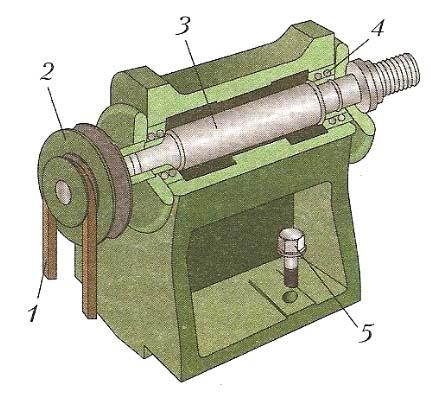 Конструкция передней бабки токарного станка СТД-120М