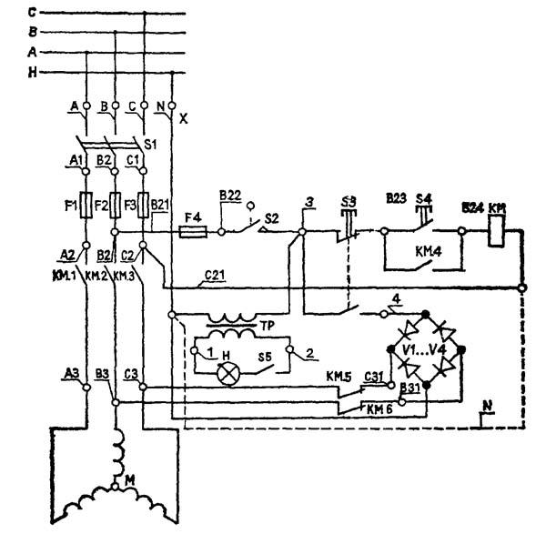 Схема электрическая токарного станка СТД-120М