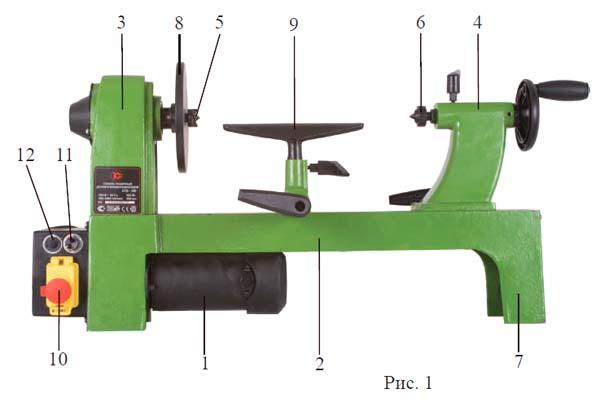Состав токарного станка СТД-400