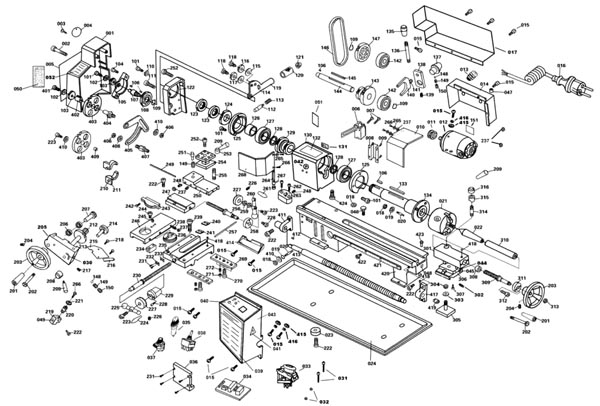 СТМН-550 Расположение составных частей токарного станка