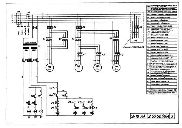 SV18RA Схема электрическая токарно-винторезного станка