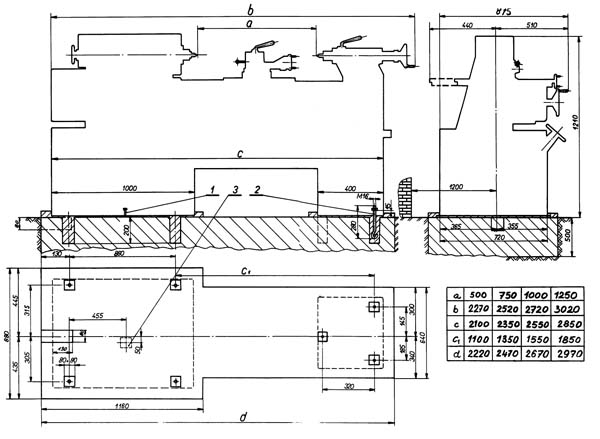 SV18RA Установочный чертеж токарного станка