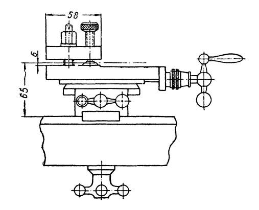Т-65 Габаритные размеры рабочего пространства токарного станка
