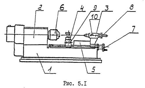 ТНП-111 Расположение составных частей токарного станка