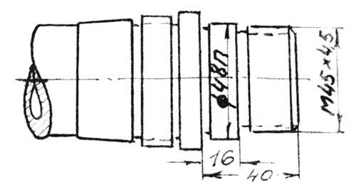 Габаритные размеры рабочего пространства токарного станка ТС-135