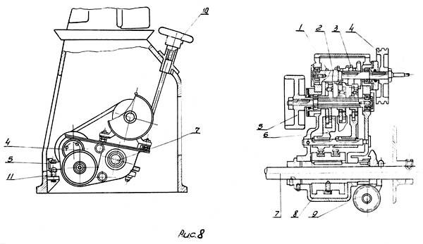 Коробка скоростей токарно-винторезного станка ТС-135