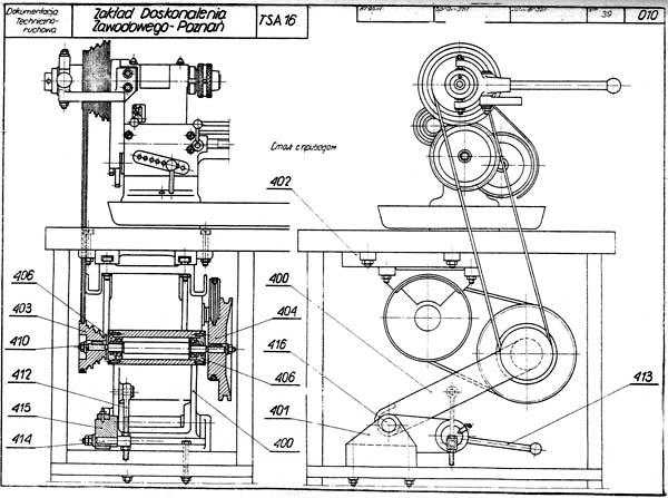 TSA-16 Общий вид токарно-винторезного станка