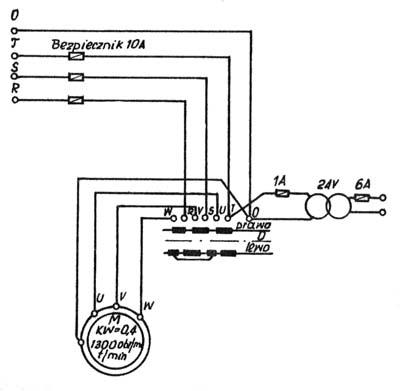 ТВ7 Схема электрическая токарно-винторезного станка