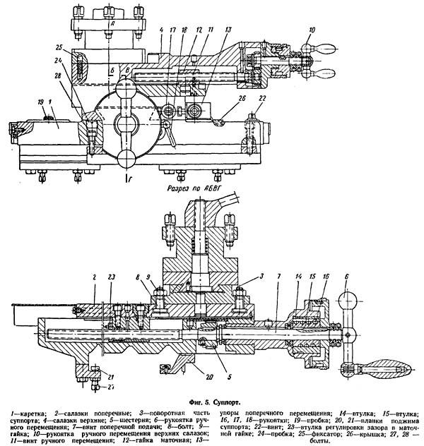 Суппорт токарного станка ТВ-320, ТВ-320П