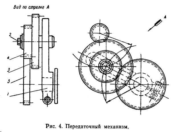 ТВШ-3 Передаточный механизм токарно-винторезного станка