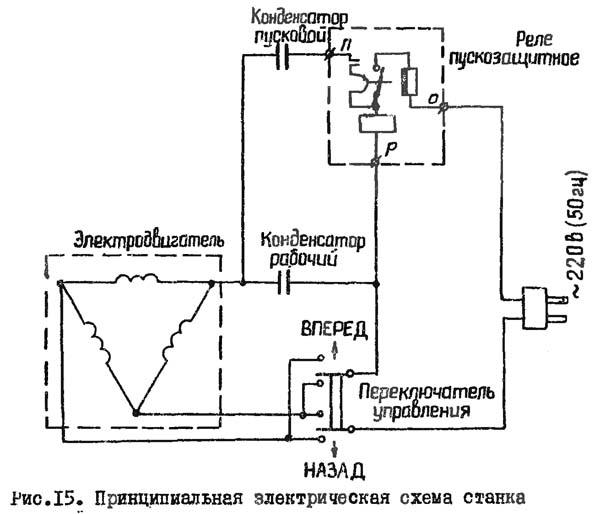 Схема электрическая токарного станка Универсал-2