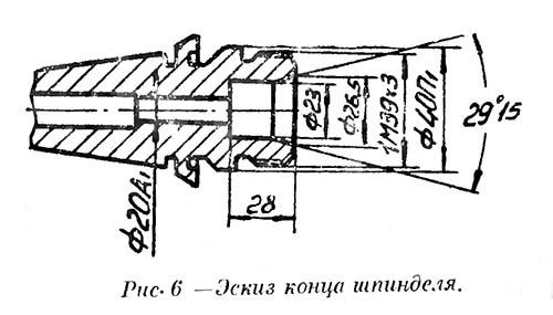Шпиндель токарного станка С193н