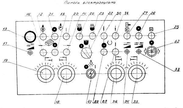 Пульт управления плоскошлифовального станка 3Д725