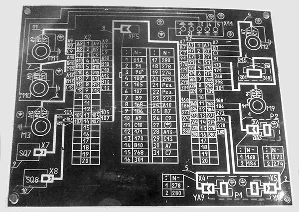 Схема гидравлическая плоско шлифовального станка 3Л722В