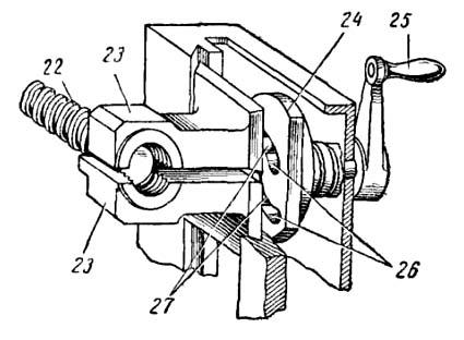 Устройство маточной гайки токарно-винторезного станка